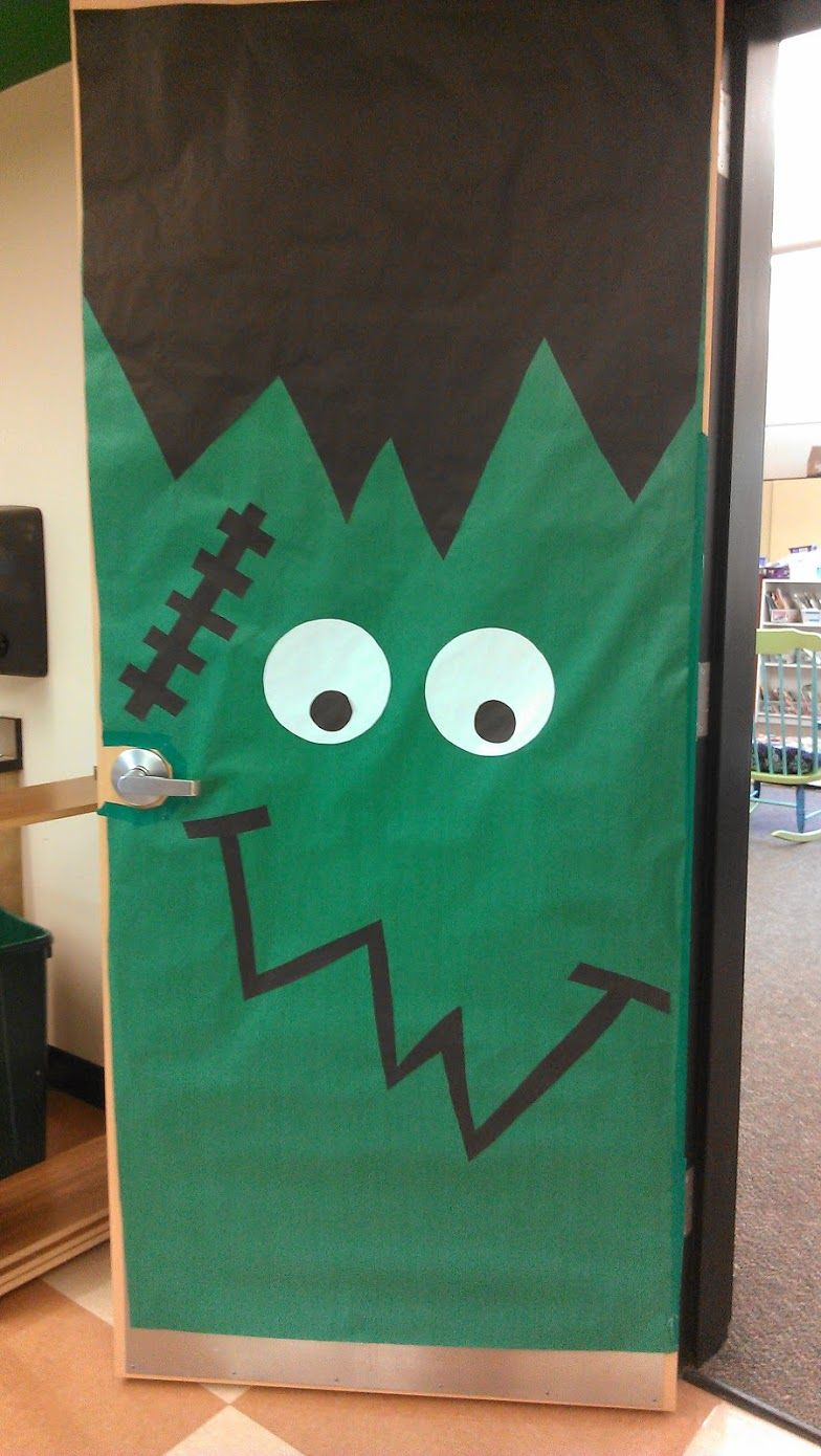 Frankenstein Halloween Classroom Door Classroom Door Decor - Halloween Classroom Door Decorations