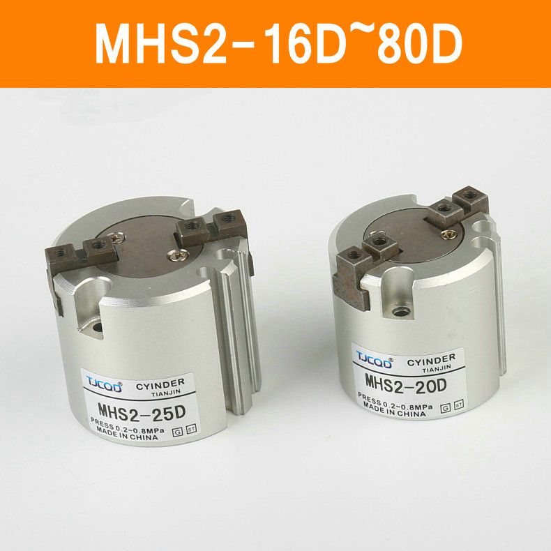 Mhs2 16d 20d 25d 32d 40d 50d 63d 80d Parallel Style Air Gripper 2 Finger Smc Type Rotating Double Act Jaw Cylinder Bore 16 8 Cylinder Rotating Home Improvement