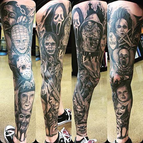 Cjhurtado Movie Tattoos Horror Movie Tattoos Sleeve Tattoos