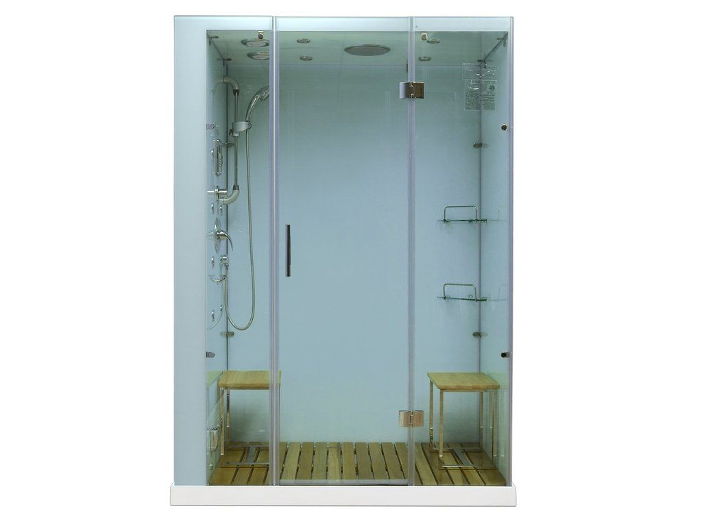 Flash Sale Homeward Bath Orion White Steam Shower M6027w Bathcollective Com Steam Shower Kit Shower Enclosure Steam Shower Enclosure