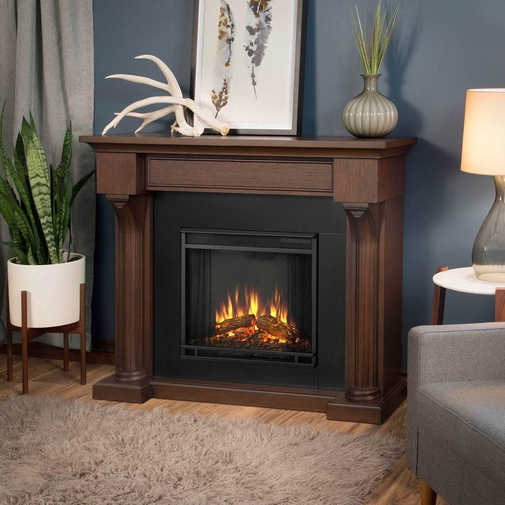 Verona 48 in. Electric Fireplace in Chestnut Oak