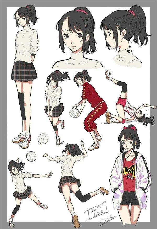 Persona 5 Shiho Suzui Persona 5 Anime Persona 5 Character Design