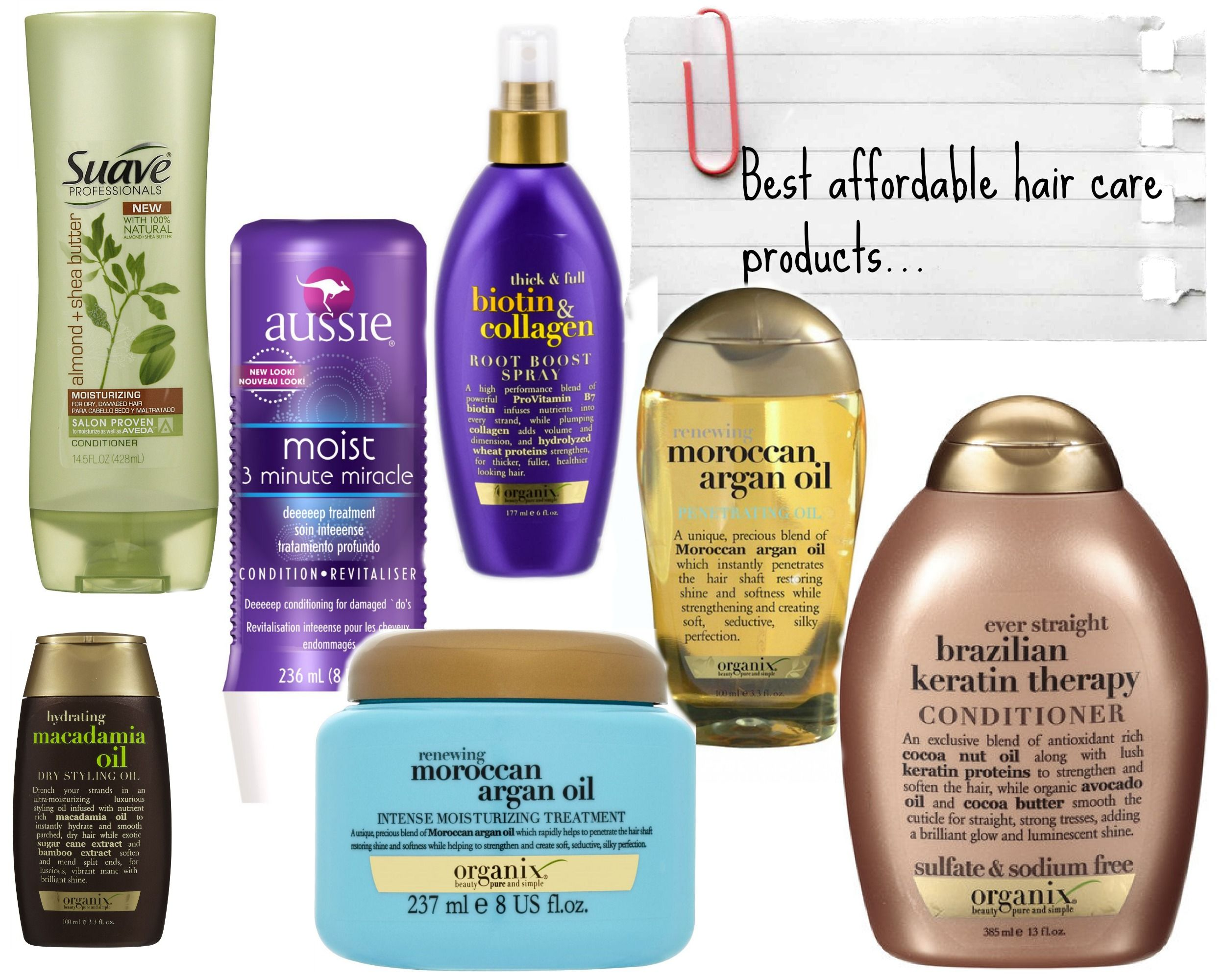 Best Hair Products for Healthy Hair Drugstore Edition