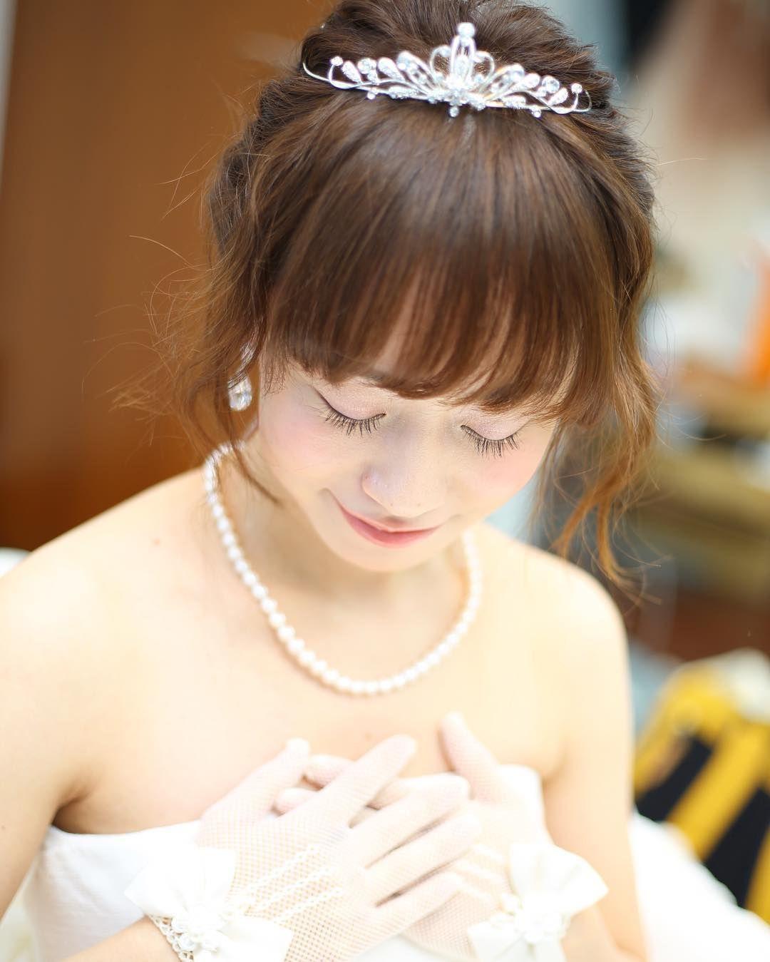 可愛すぎる前髪ありの花嫁ヘアアレンジ特集