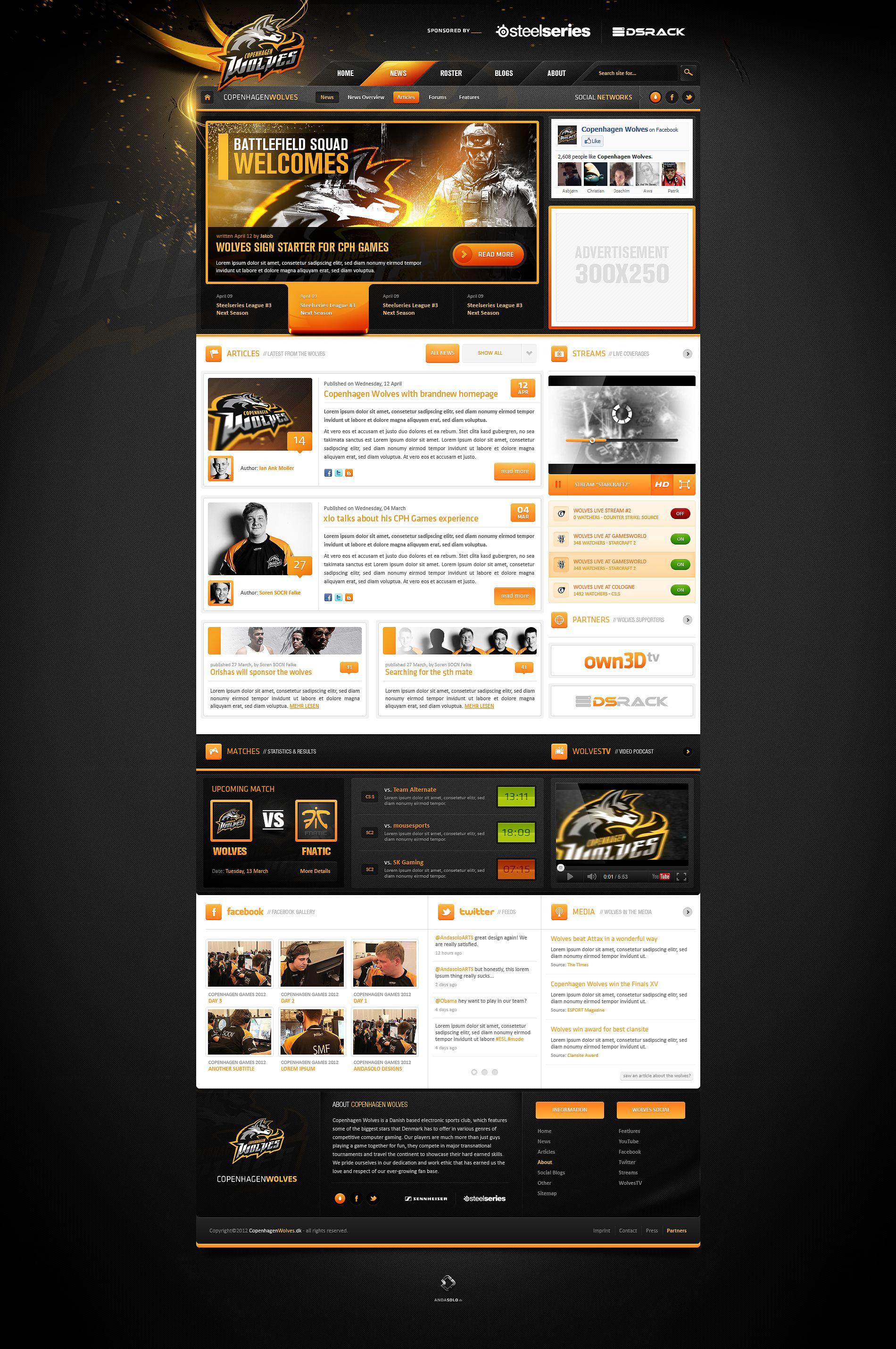Copenhagen Wolves Web Design Design Course Web Design Inspiration