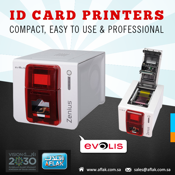 Evolis Idcardprinters Supplier In Saudi Arabia Ksa Vision2030 Aflak Card Printer Printer Cards