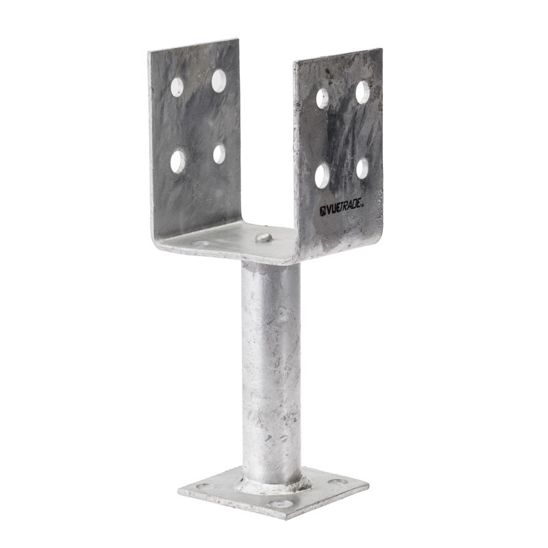 Vuetrade Full Stirrup Galvanised Post Support Anchor Galvanized Timber Posts Supportive