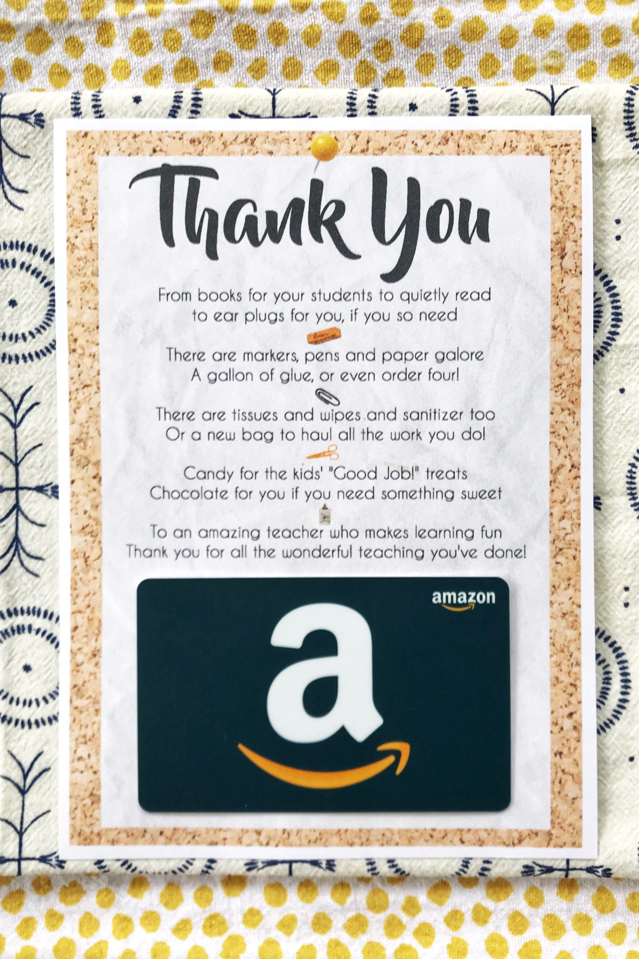 photo about Amazon Gift Card Printable named Trainer Appreciation Reward Card Printable Instructor