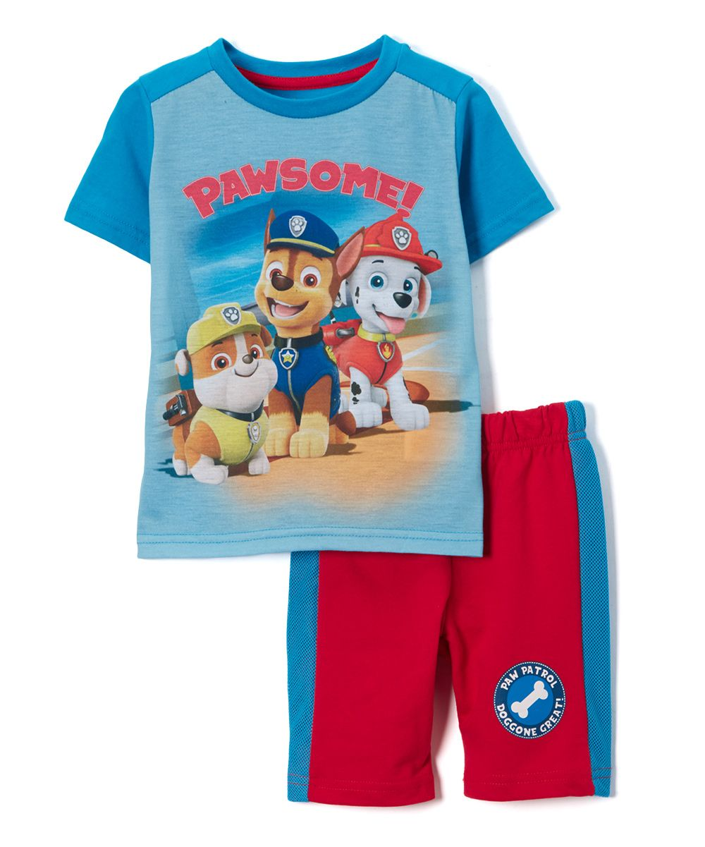 3dfd2e4c PAW Patrol Blue Tee & Red Shorts - Toddler & Boys | Products | Kids ...