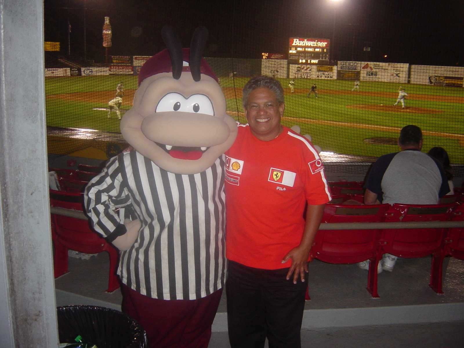 Mr. Savannah Sand Gnat! An awesome place to watch minor league baseball where every seat in Grayson Stadium is in the front row!