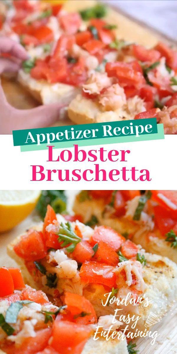 Lobster Bruschetta Appetizer Recipe