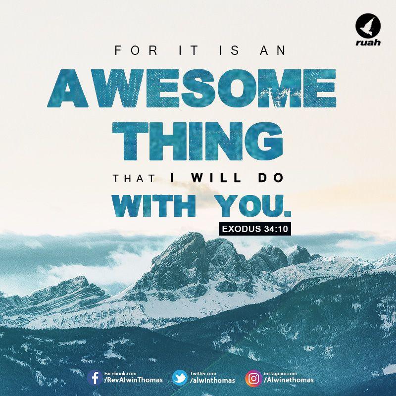 Exodus 34:10 (NKJV) #dailybreath #ruah #ruahchurch #awesome
