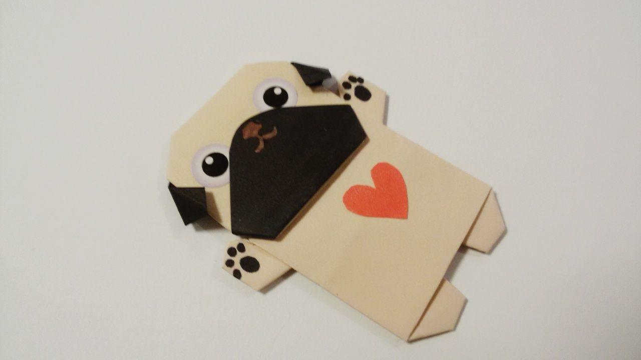 Origami Valentine Pug Magnet Jollycards Etsycom International Parrotdiagram By Barth Dunkan Ecorigami Libro De Recortes Decoracion Cuadernos