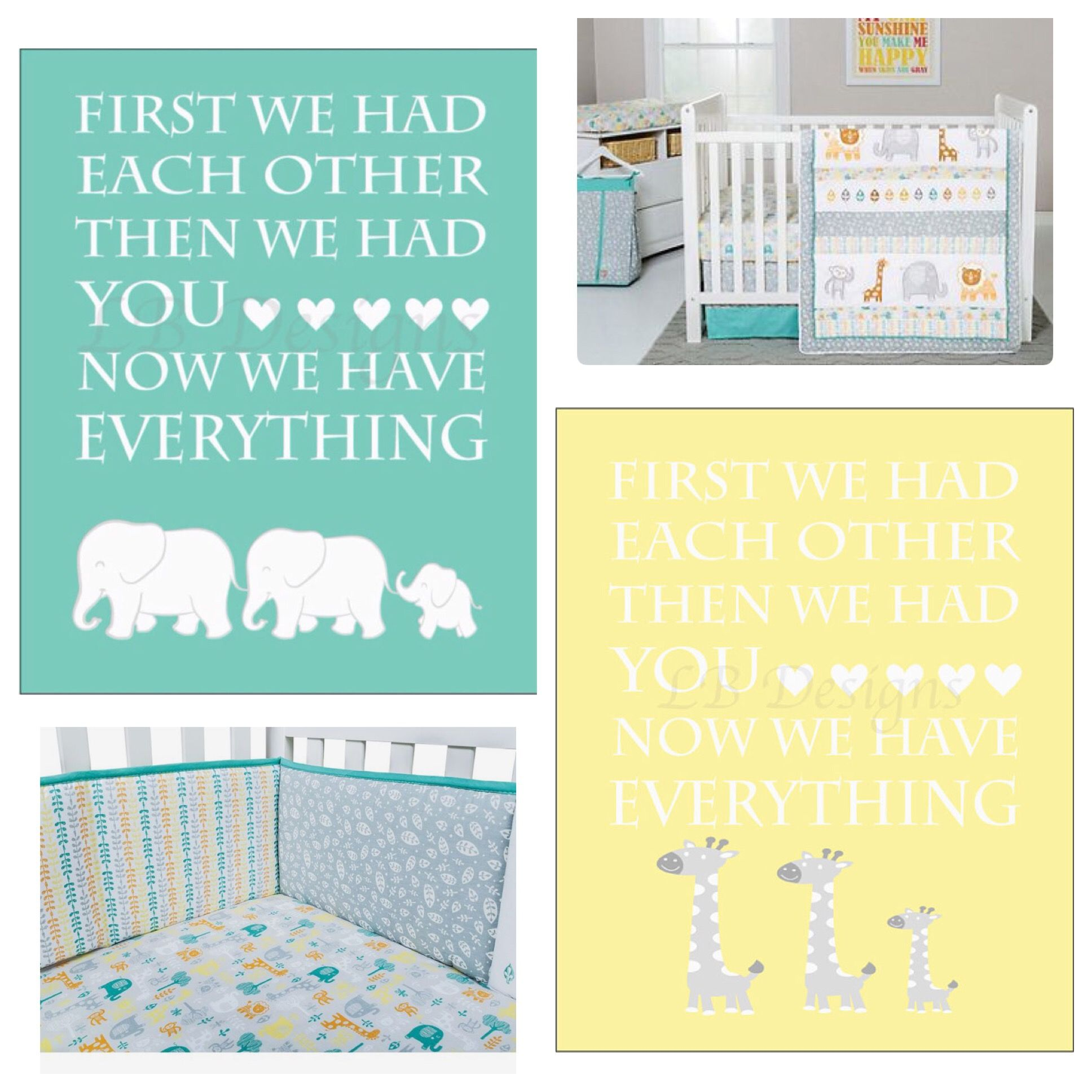 Jungle Nursery Decor, Gender Neutral Nursery, Trend Lab Lullaby ...