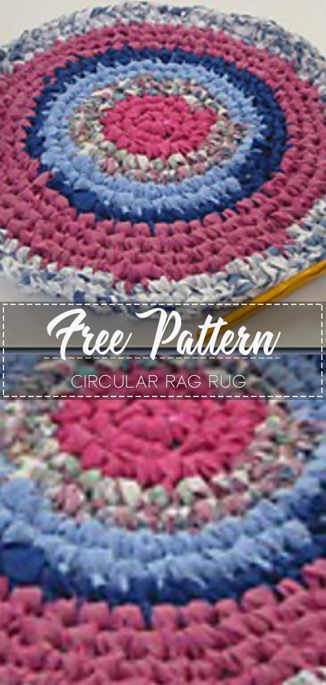 Circular Rag Rug Free Pattern With