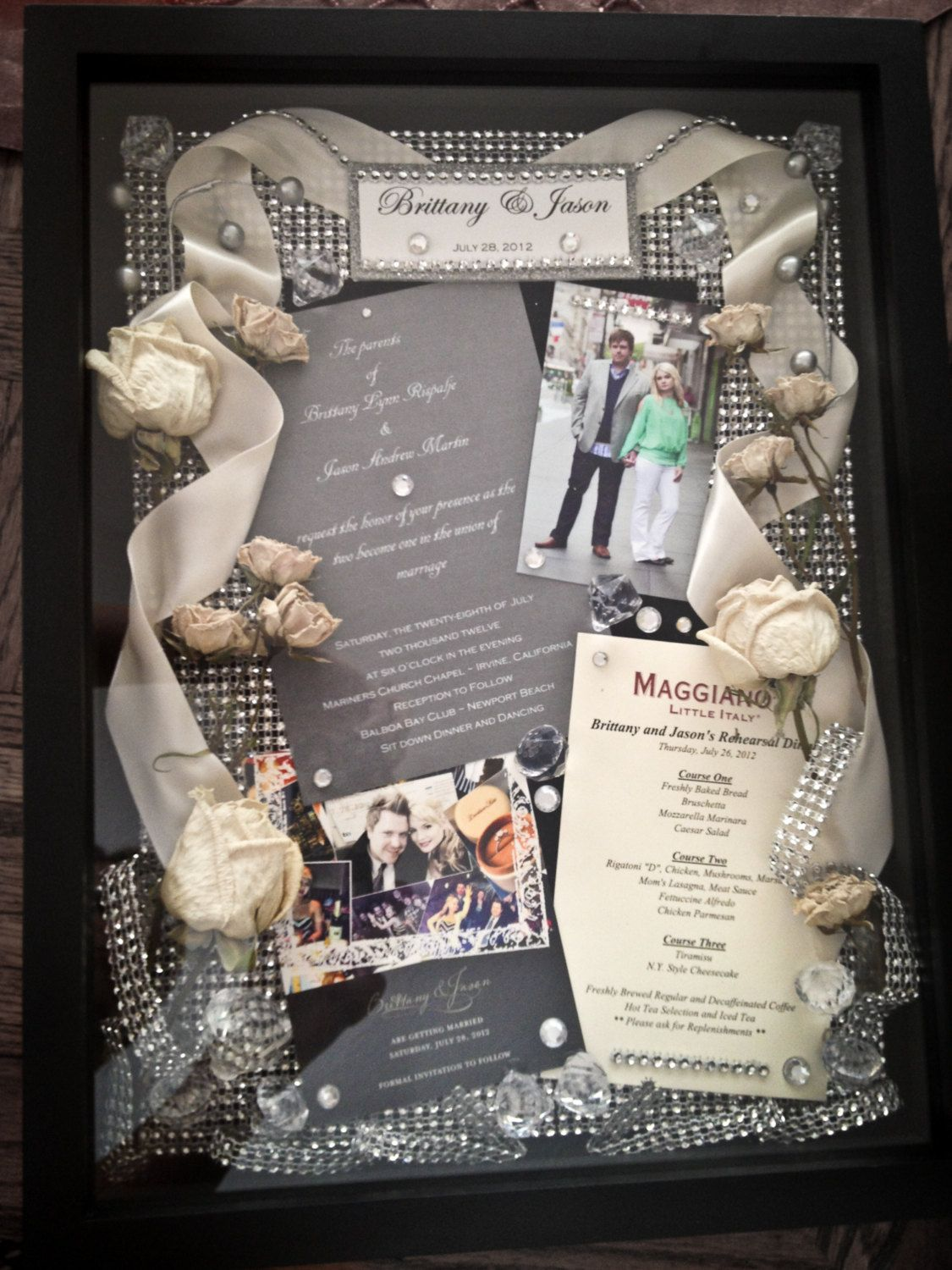 Custom Wedding Shadow Box with all of your special wedding
