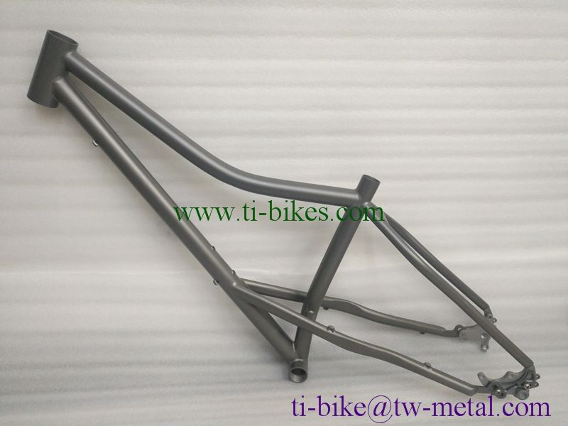 Xacd Titanium fat bike frame with rocker dropouts Custom Titanium ...