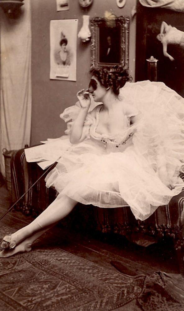 Antique Dancer Postcard