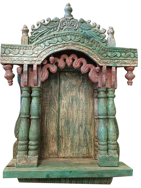 House Warming Wooden Temple Altar Mandir Carving Furniture