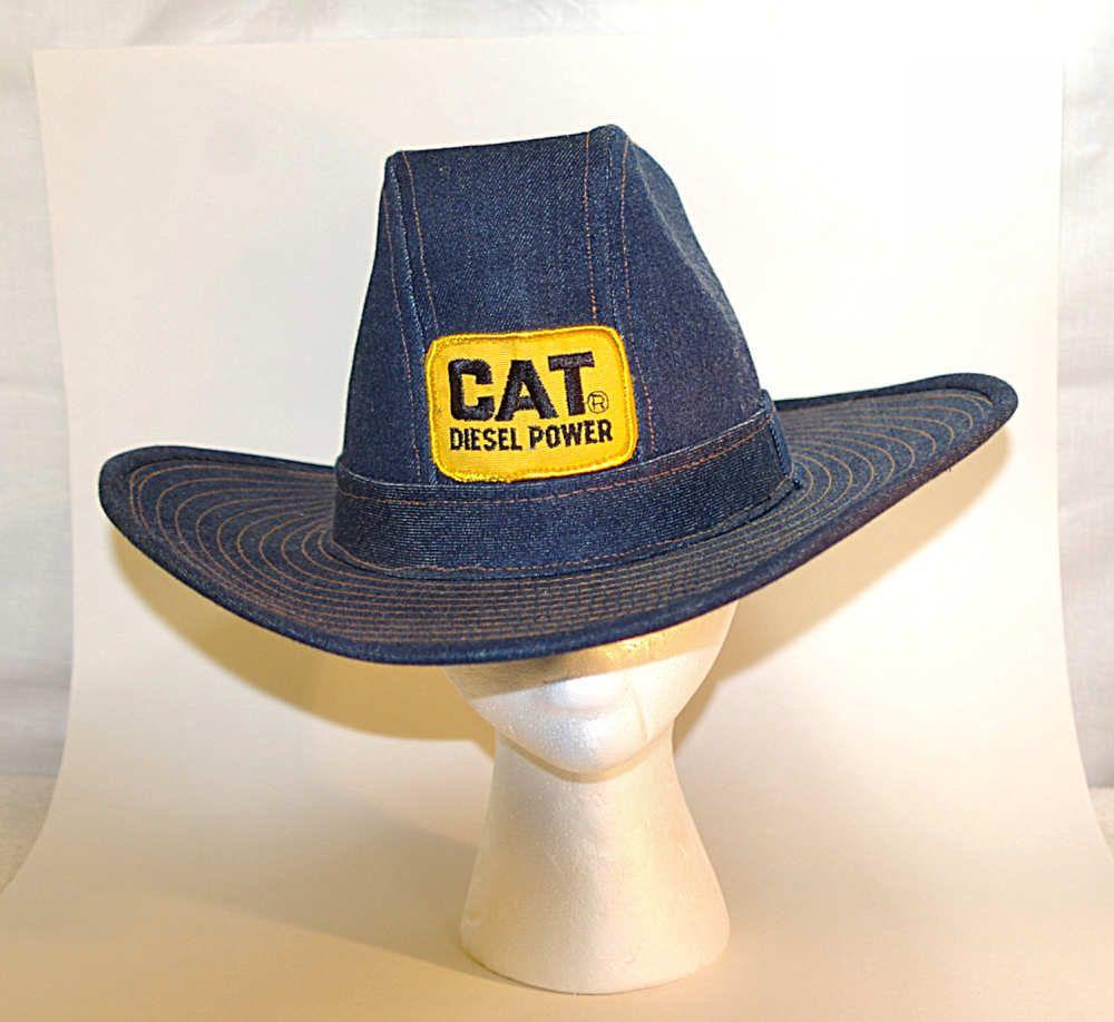 70s CAT Diesel Power Cowboy Hat Large Mens Smokey and the Bandit Era ... cf0b46ae68