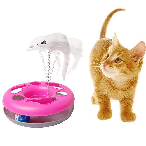 Petlike Pet Accessory Ball Chase With Mouse Crazy Cat Play Wheel Mouse Wand Teaser Swatter Chase Exerciser Suitab Crazy Cats Homemade Cat Toys Pet Accessories