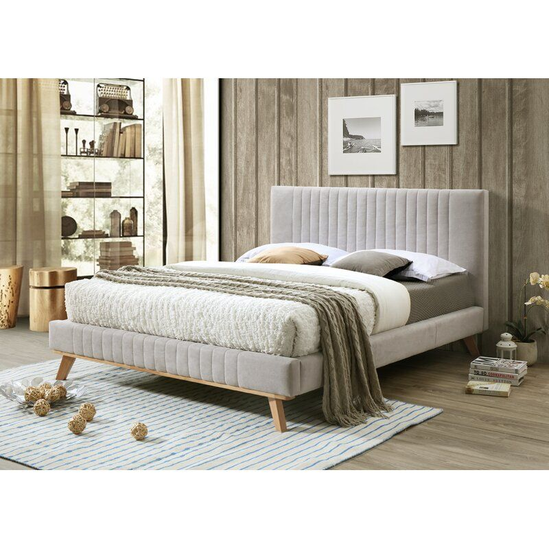 Kimble Queen Upholstered Platform Bed Upholstered Platform Bed Upholstered Bed Frame Upholstered Beds