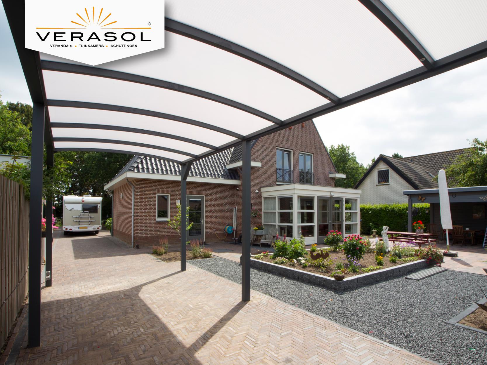 Verasol Carport | Vlak | RAL 9016 Structuurlak | Verasol Carports ...