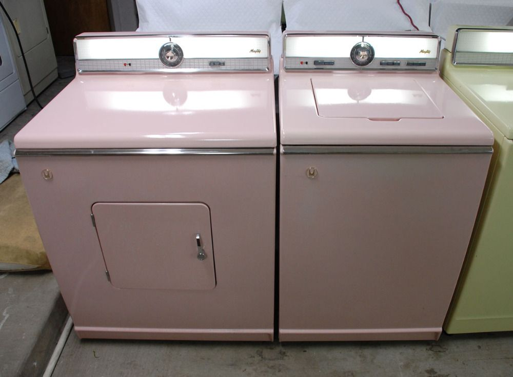 Wishing For This Vintage Pink Washer Dryer Vintage Laundry Room Vintage Laundry Pink Bathroom Accessories