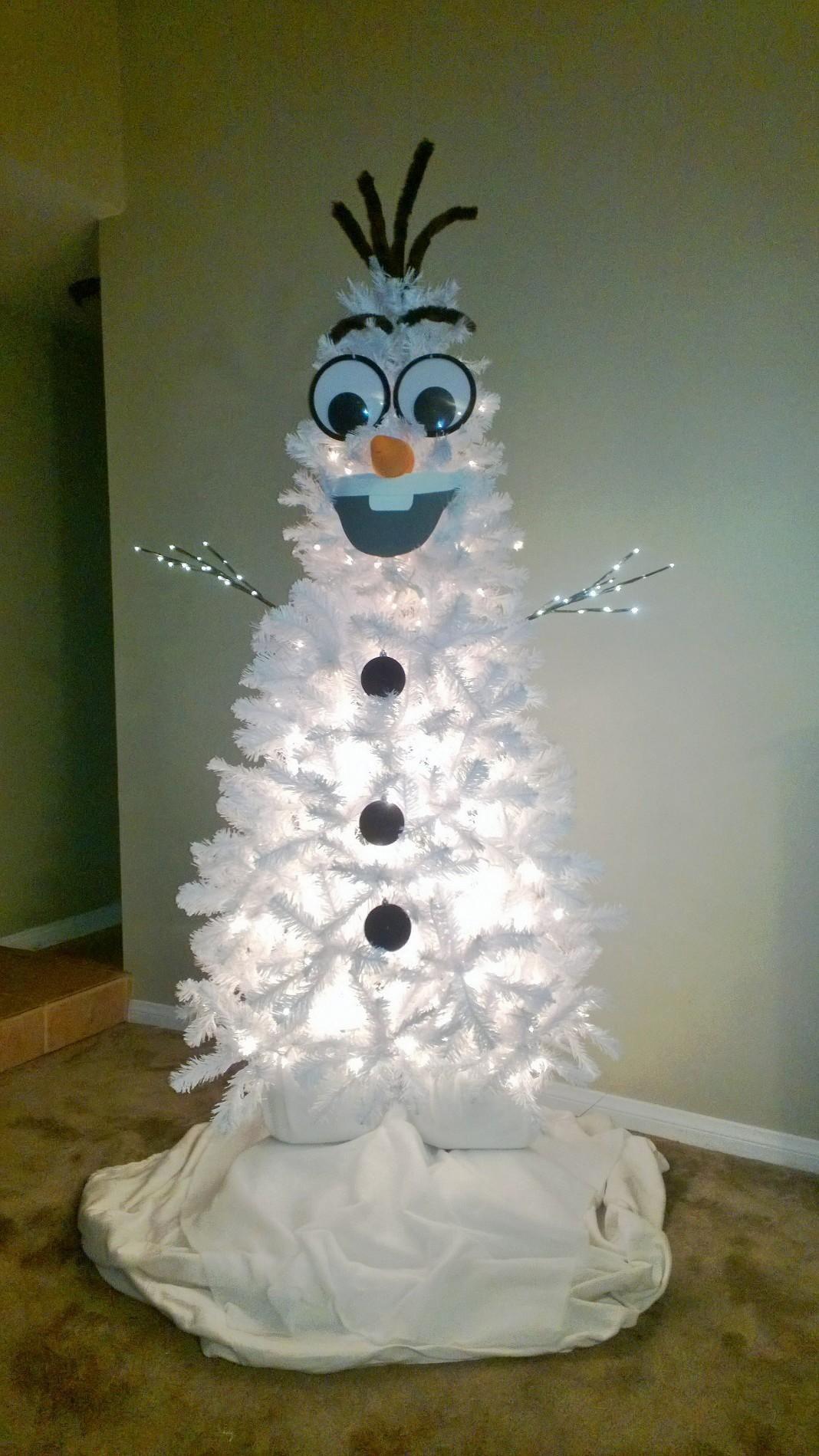 Homemade Olaf Christmas tree! | Christmas | Pinterest | Navidad