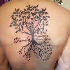 Family Tree Tattoos 11 Tattoosonback Tattoos On Back Pinterest