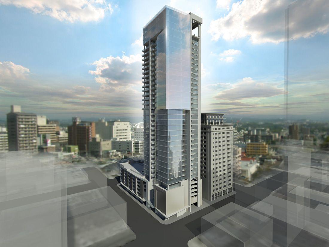 Downtown Houston Luxury Apartments 38 stories on Rusk Street