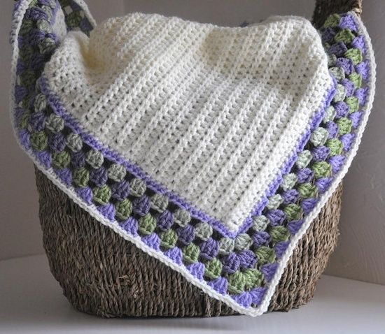 Classic Blanket with a Cute Granny Edging