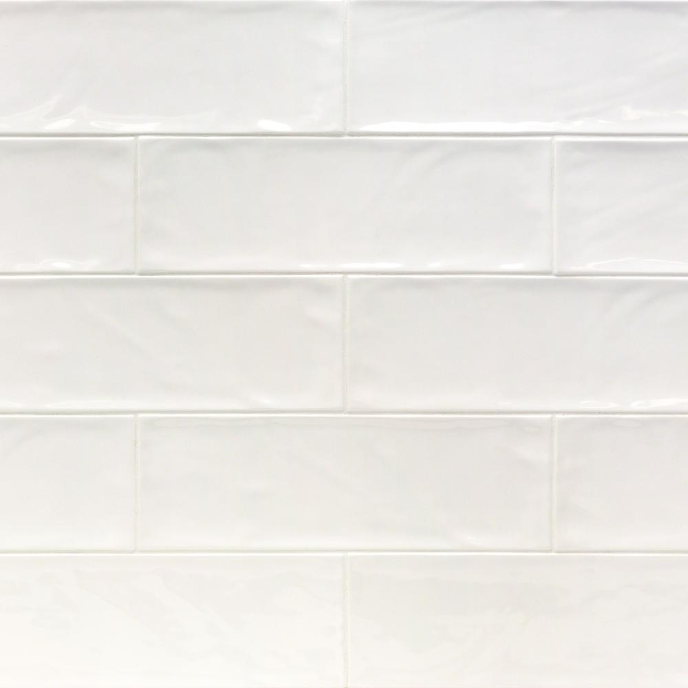 Ivy Hill Tile Pier White 4 In X 12 In 6 Mm Polished Ceramic Subway Wall Tile 33 Piece 10 76 Sq Ft Box Ext3rd100457 The Home Depot Ivy Hill Tile Subway Tile White Bathroom Tiles