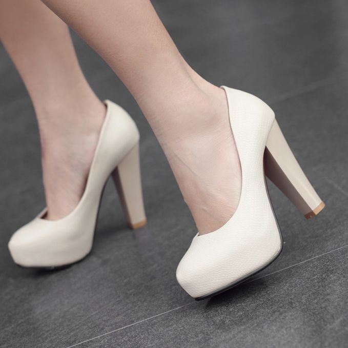 Noble Women&39s Ivory Mature Chunky Heels Wedding Shoes  Wedding