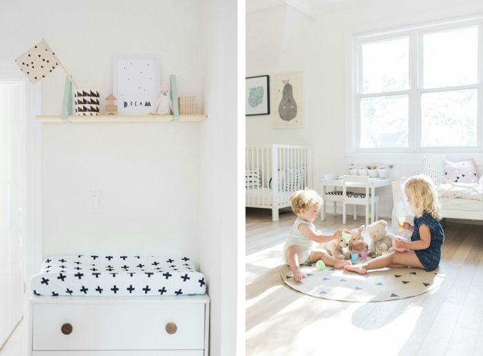 kinderzimmer skandinavisch einrichten runder kinderteppich ...