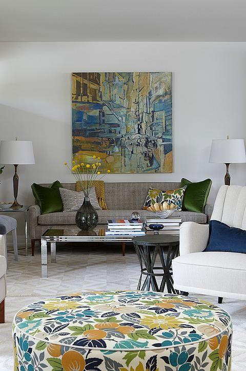 Sarah richardson sarah 101 living room neutral bold floral - Sarah richardson living room ideas ...