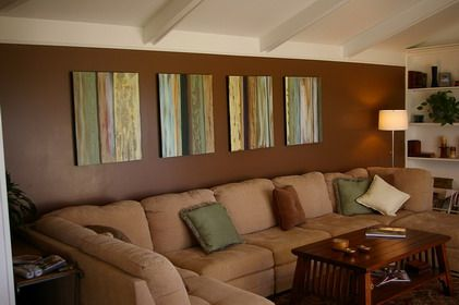 calm and beautiful brown theme decoration in small living room