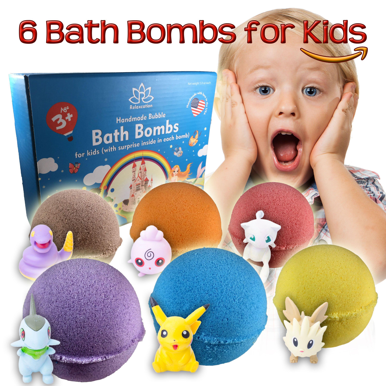 6 Bath Bombs For Kids With Toys Inside Bath Bomb Kit Bath Bomb