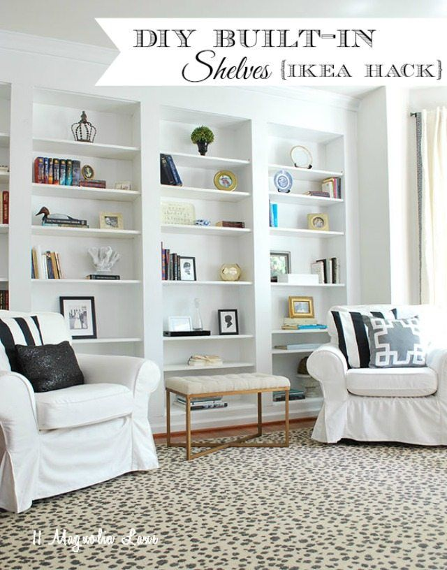 How To Build Diy Built In Bookcases From Ikea Billy Bookshelves In
