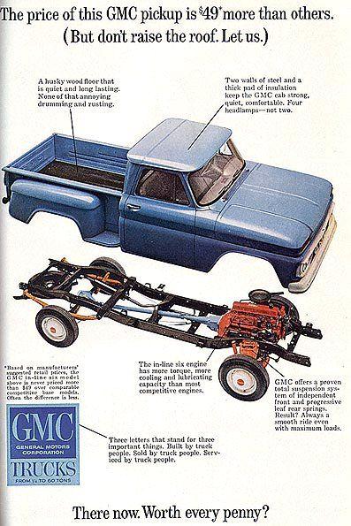 1965 Gmc Truck Ad 03 Gm Trucks Pickup Trucks Classic Cars Trucks