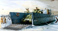 1944 Operation Overlord LCM-3 Landing Craft Mechanized - box art Trumpeter
