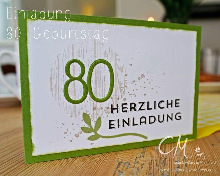 Bildergebnis Fur Stampin Up 80 Geburtstag Einladung 80
