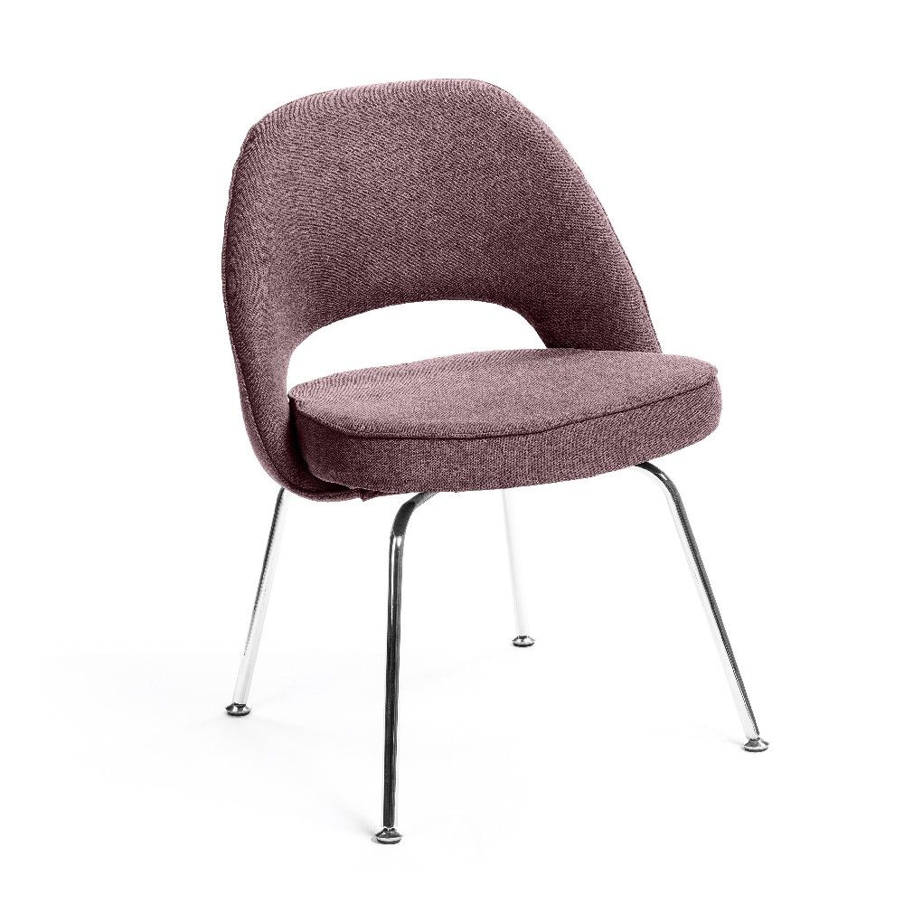 Archaiccomely Upholstered Dining Chairs With Metal Legs