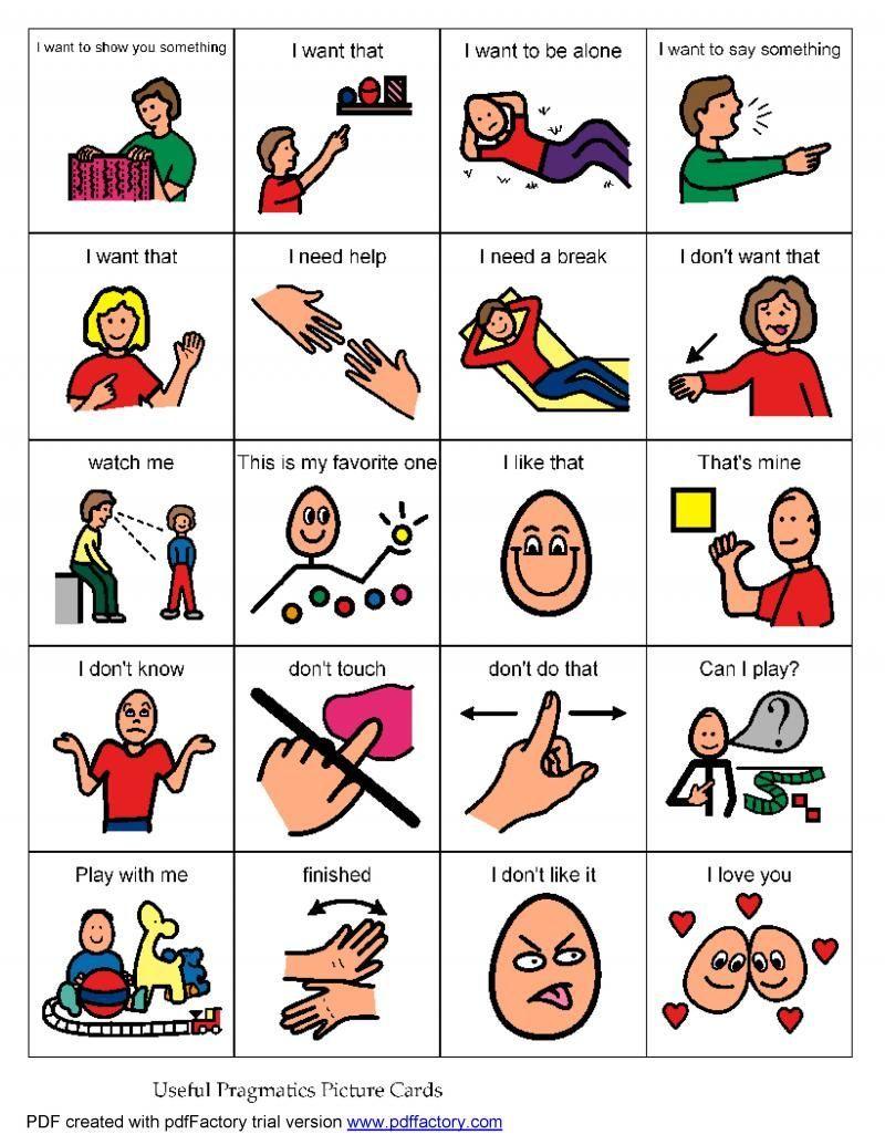 Pragmatic language board low tech communication purposes