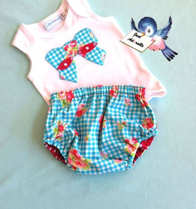 Baby Girl Clothes Baby Girl Outfit Diaper Cover Set Aqua