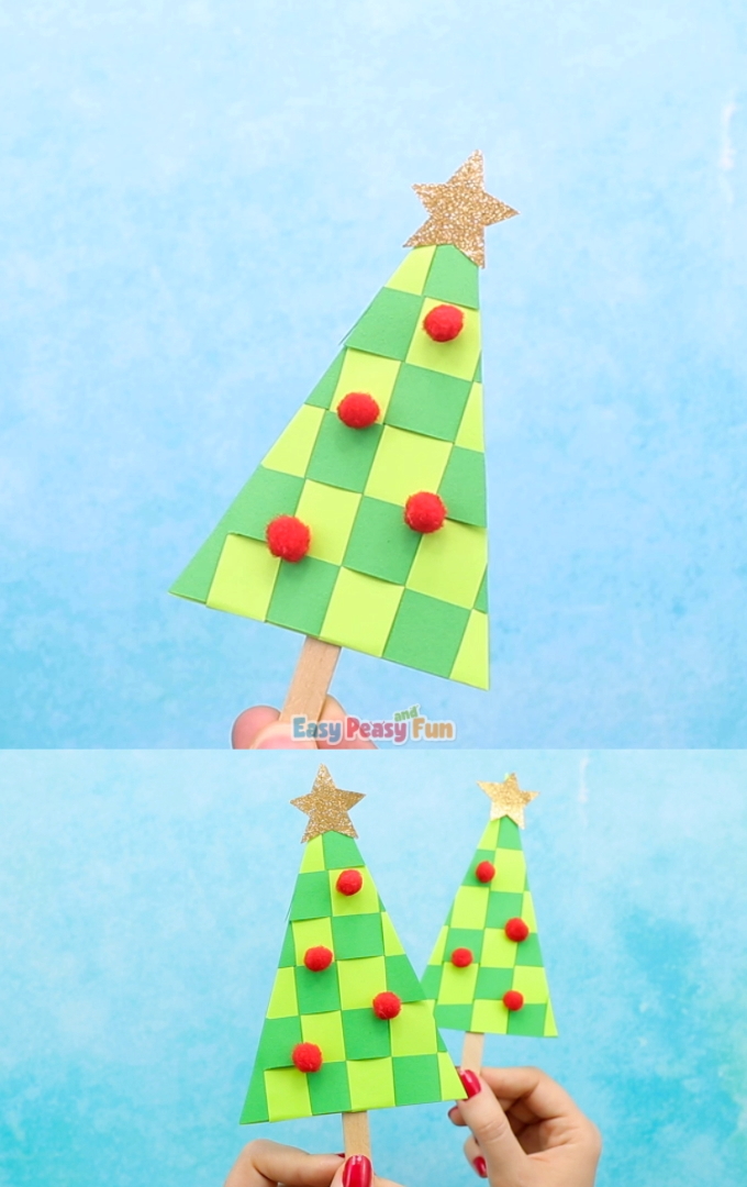 Paper Weaving Christmas Tree Craft