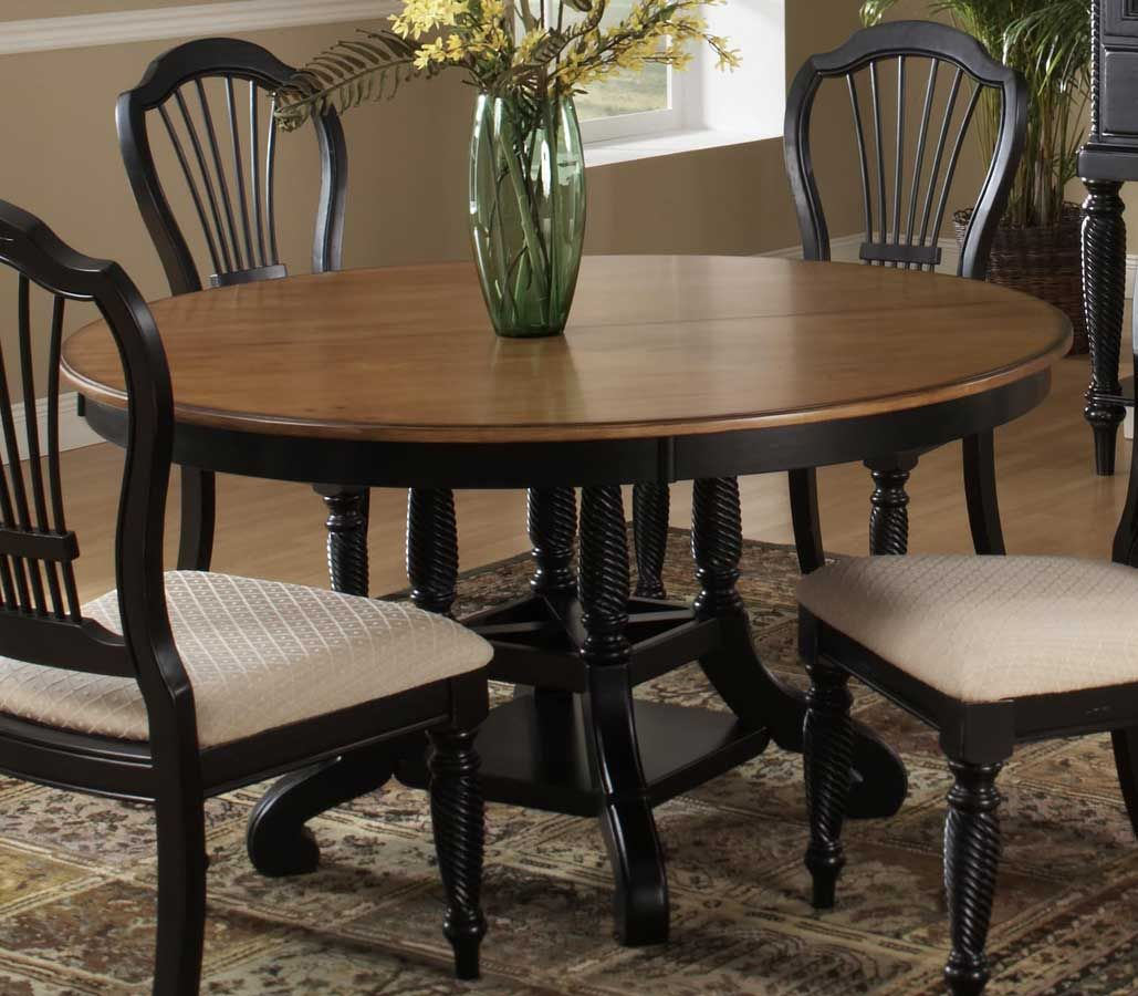 Round Dining Set With Leaf: Hillsdale Wilshire Round Oval Dining Table
