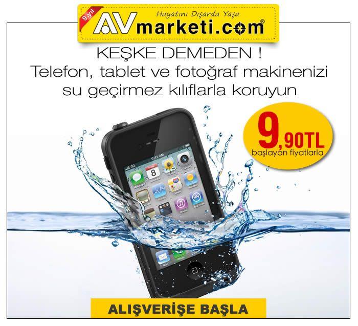 Keşke dememek için koruyucu kılıf kullanın. Cep telefonu, tablet, fotoğraf makinesi gibi değerli elektronik eşyalar için su geçirmez kılıflar burada  http://www.avmarketi.com/asp/group/4779/Koruyucu-ve-Su-gecirmez-kilif