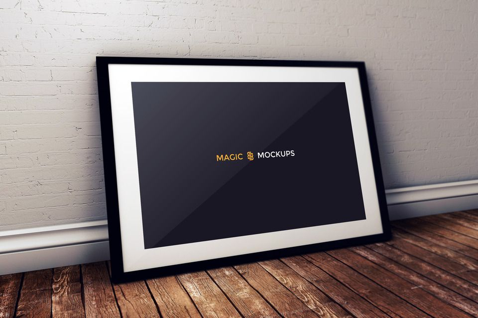 Free Studio Photo Black Frame Mockup Mockup Free Mockup Mockup Generator Mockup
