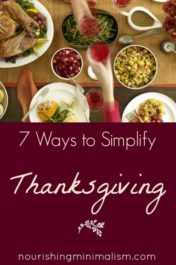 7 Ways To Simplify The Thanksgiving Holiday With Images